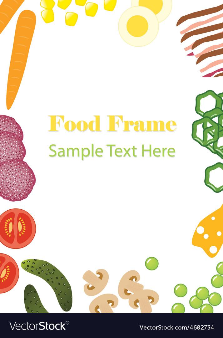 Food frame vector   Price: 1 Credit (USD $1)