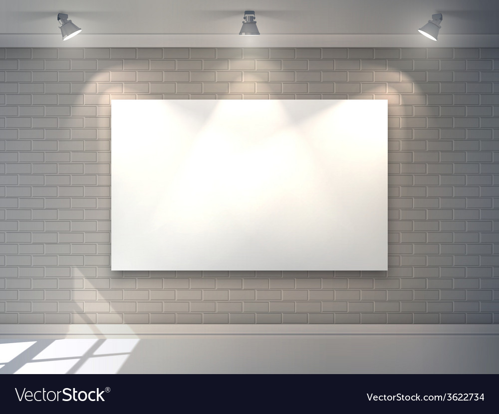 Gallery interior poster vector | Price: 1 Credit (USD $1)