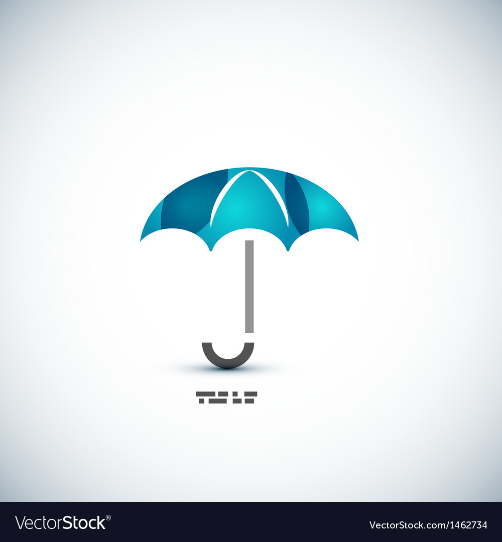 Protection umbrella icon concept vector