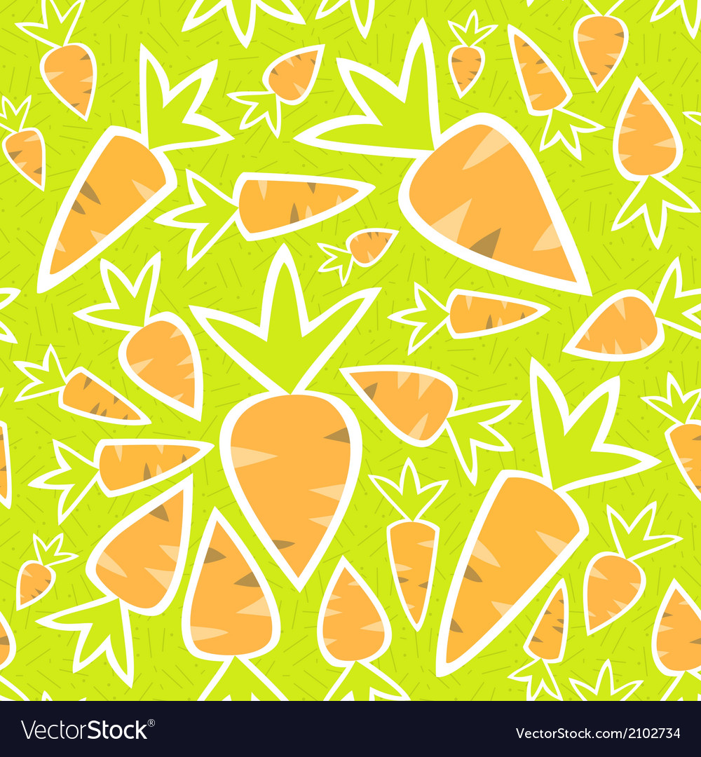 Seamless pattern orange carrots on a green vector | Price: 1 Credit (USD $1)