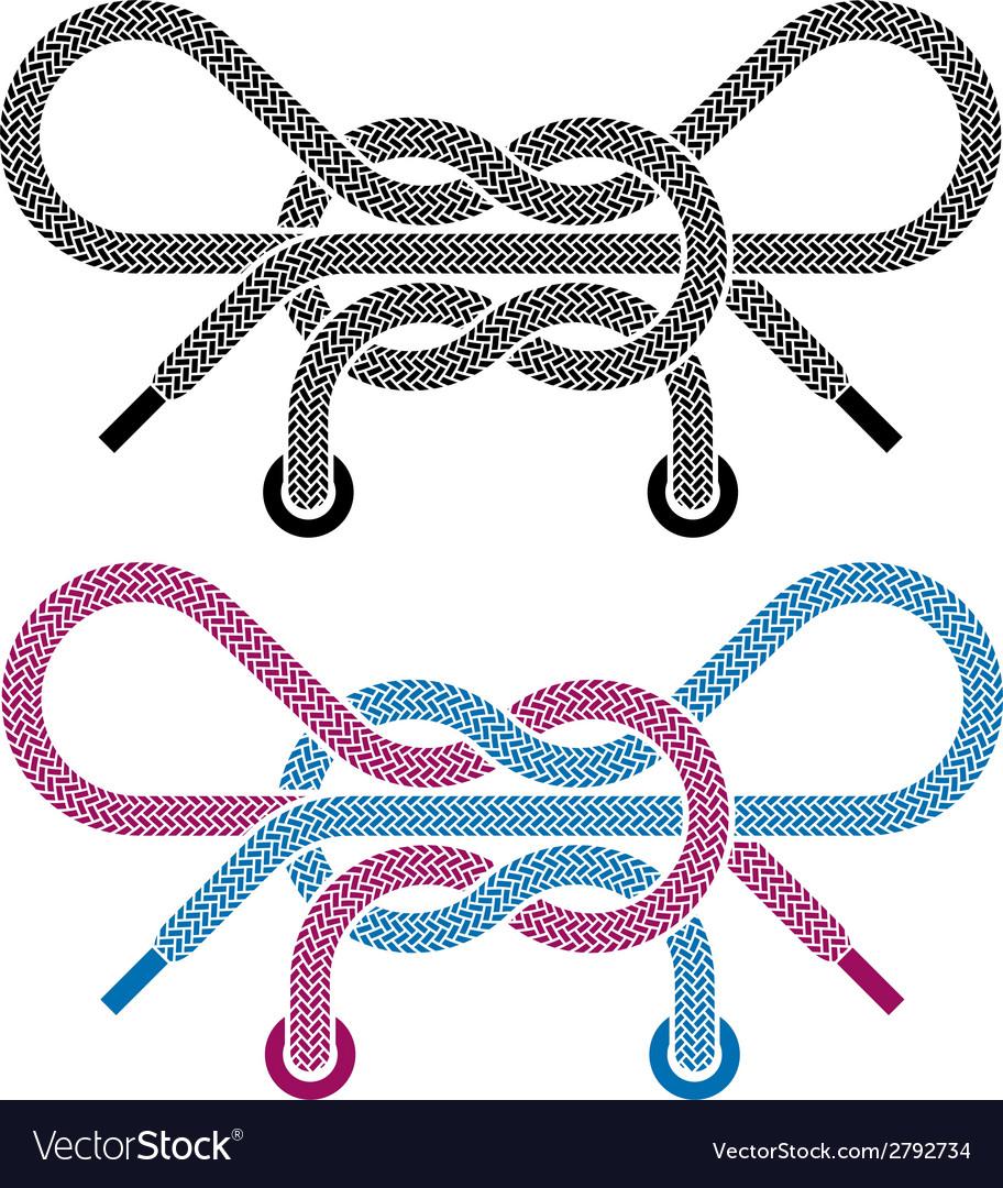 Shoe lace knot symbols vector   Price: 1 Credit (USD $1)