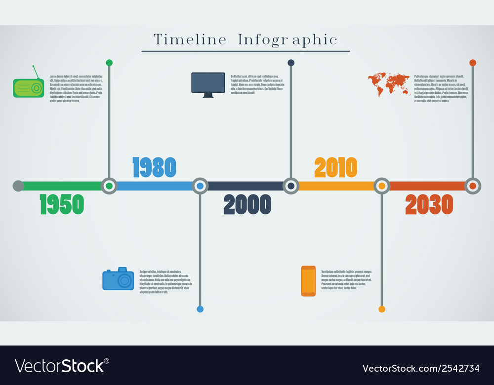 Timeline infographic eps vector | Price: 1 Credit (USD $1)