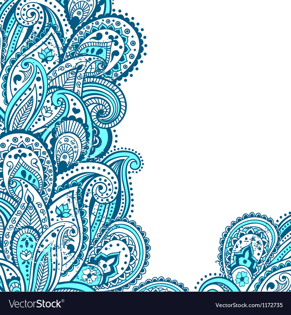 Abstract paisley background vector | Price: 1 Credit (USD $1)