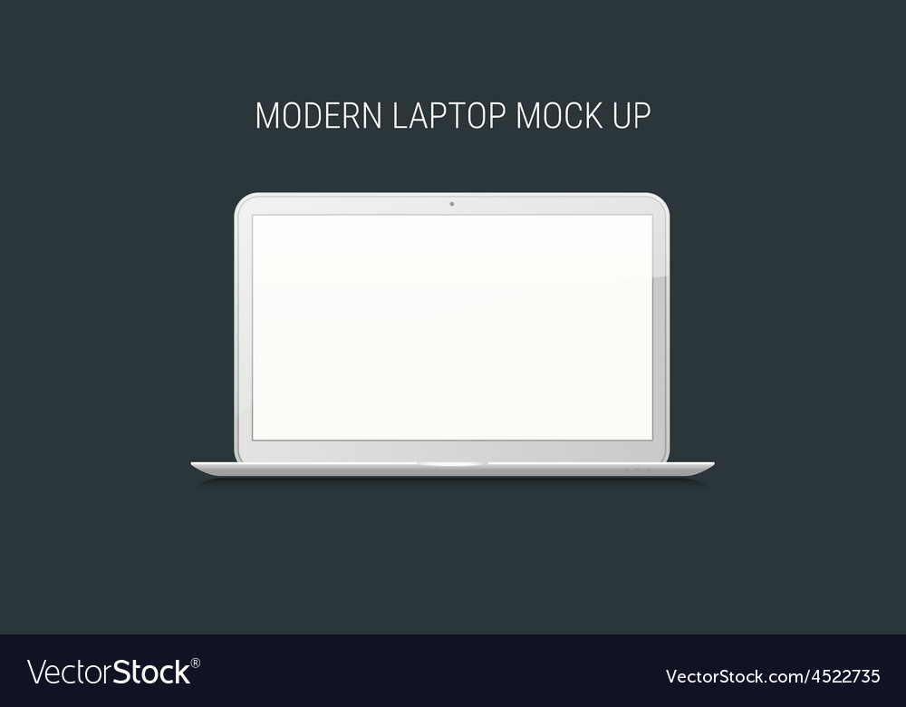 Blank laptop mock-up vector | Price: 1 Credit (USD $1)
