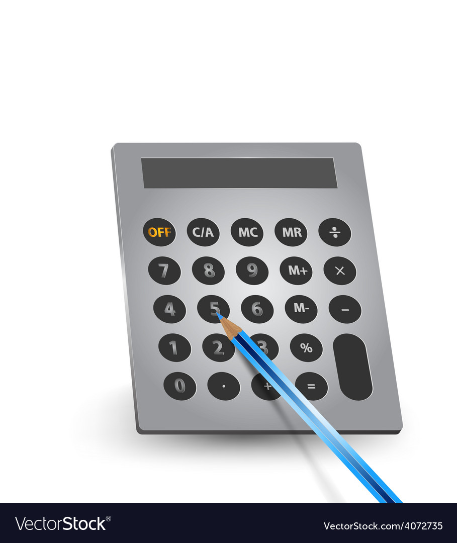 Calculate with pencil vector | Price: 1 Credit (USD $1)