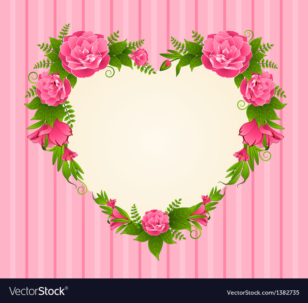 Flower border frame vector | Price: 1 Credit (USD $1)