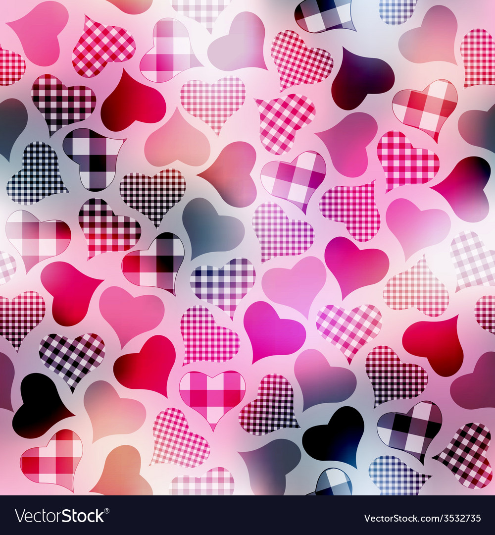 Plaid hearts vector | Price: 1 Credit (USD $1)