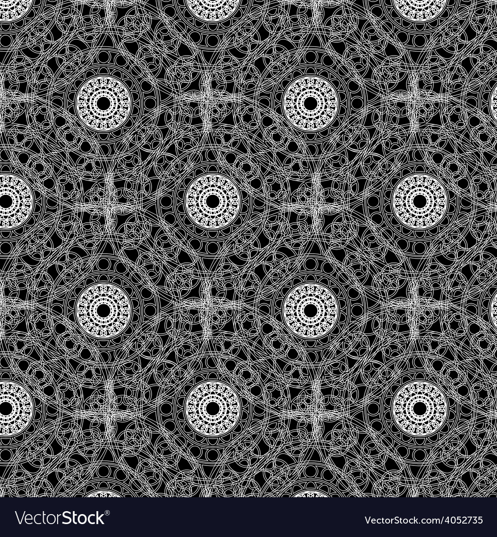 Seamless napkin pattern design vector | Price: 1 Credit (USD $1)