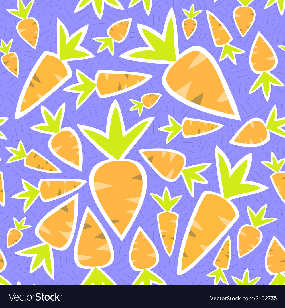 Seamless pattern orange carrots on a purple vector | Price: 1 Credit (USD $1)