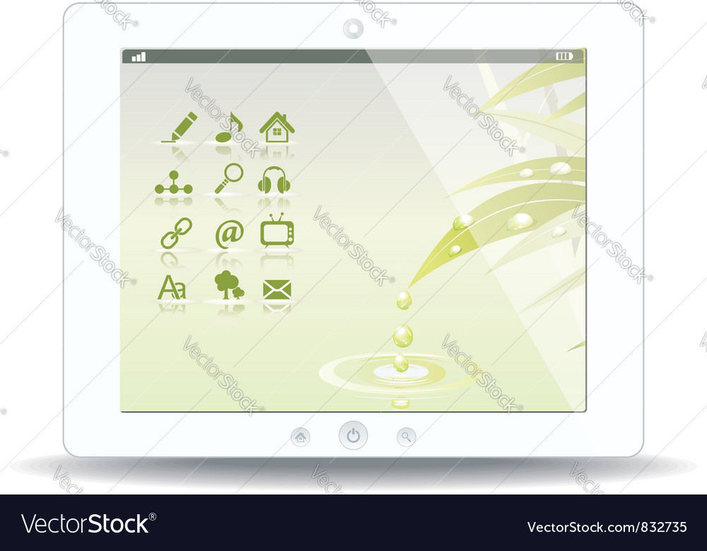 White tablet pc on white background vector | Price: 3 Credit (USD $3)