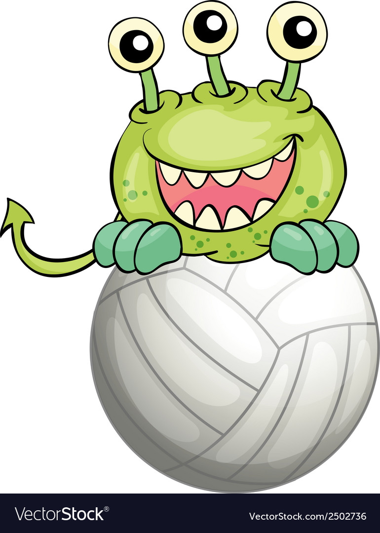 A monster above the ball vector | Price: 1 Credit (USD $1)