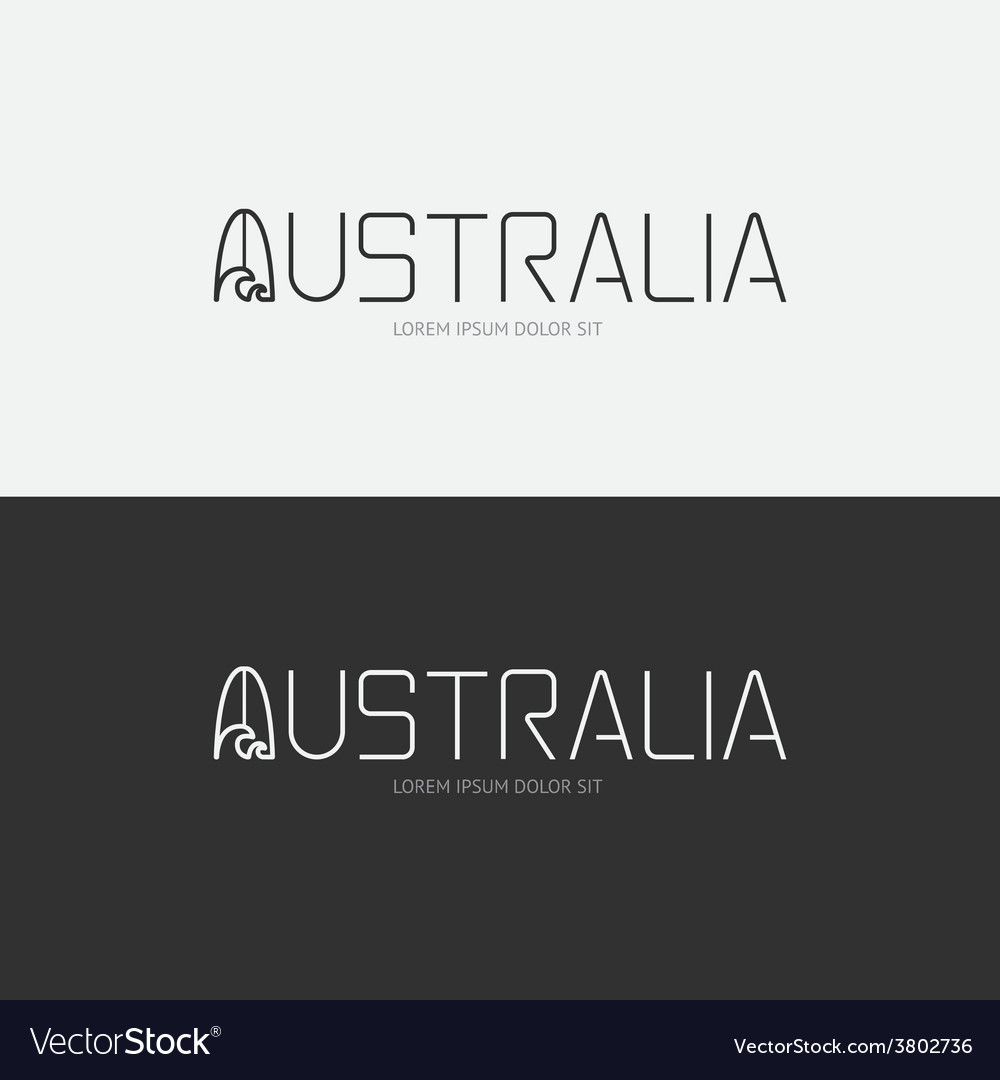 Alphabet australia design concept with flat sign vector | Price: 1 Credit (USD $1)