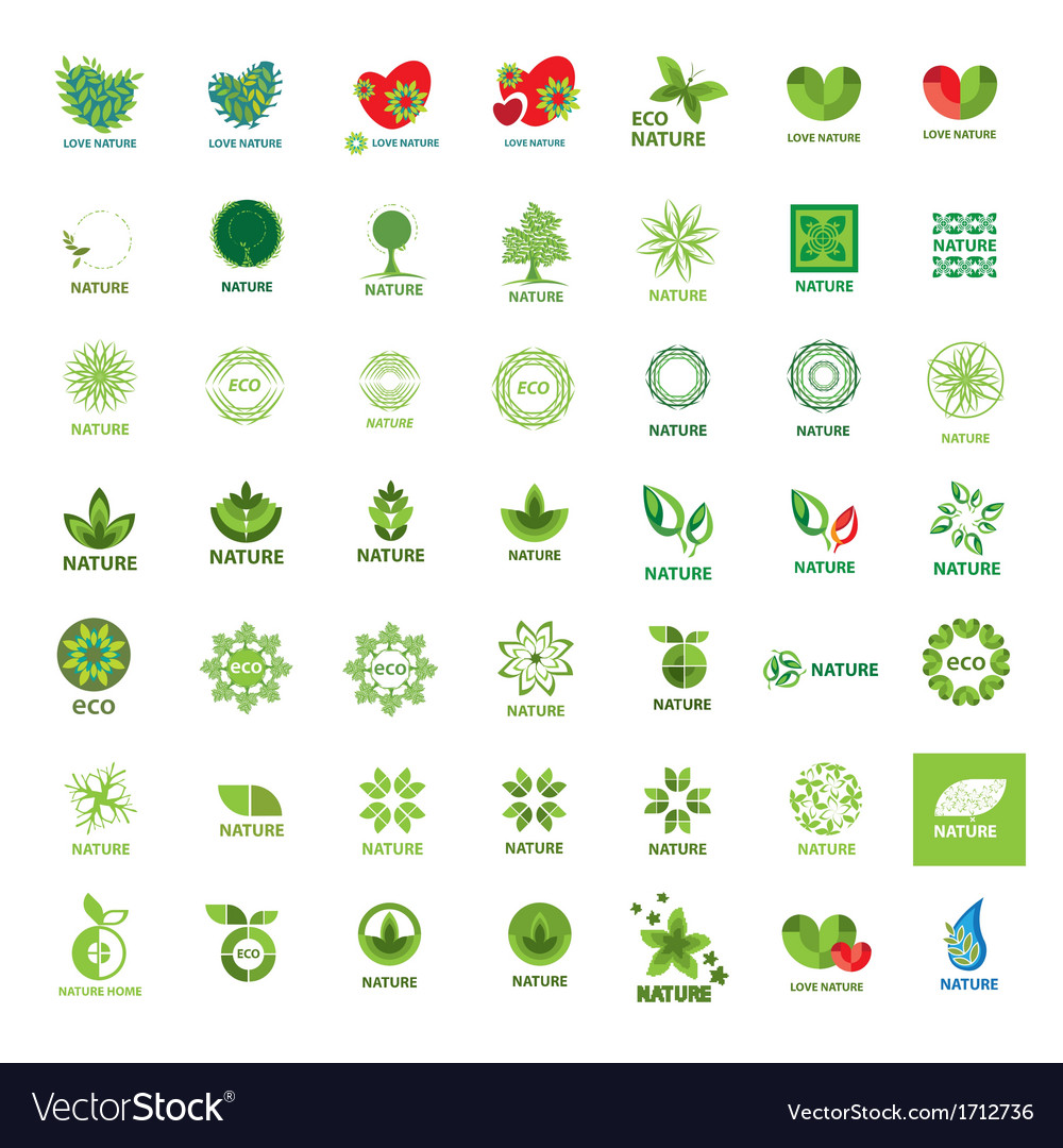 Biggest collection of logos eco and nature vector | Price: 1 Credit (USD $1)