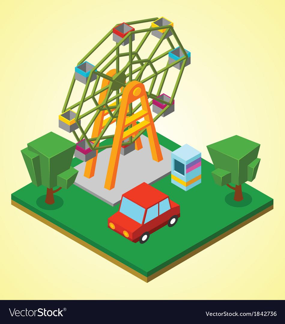 Ferris wheel vector | Price: 1 Credit (USD $1)