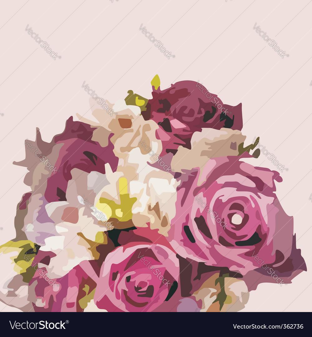 Floral postcard vector | Price: 1 Credit (USD $1)