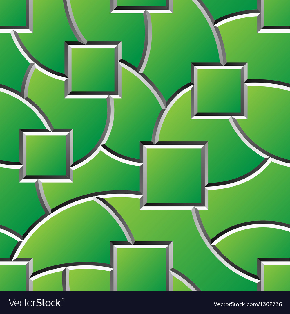 Green engraved shapes surface seamless pattern vector | Price: 1 Credit (USD $1)