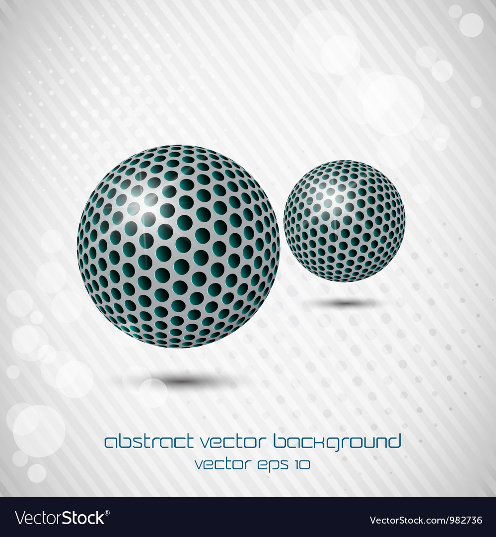 Metal doted sphere vector | Price: 1 Credit (USD $1)