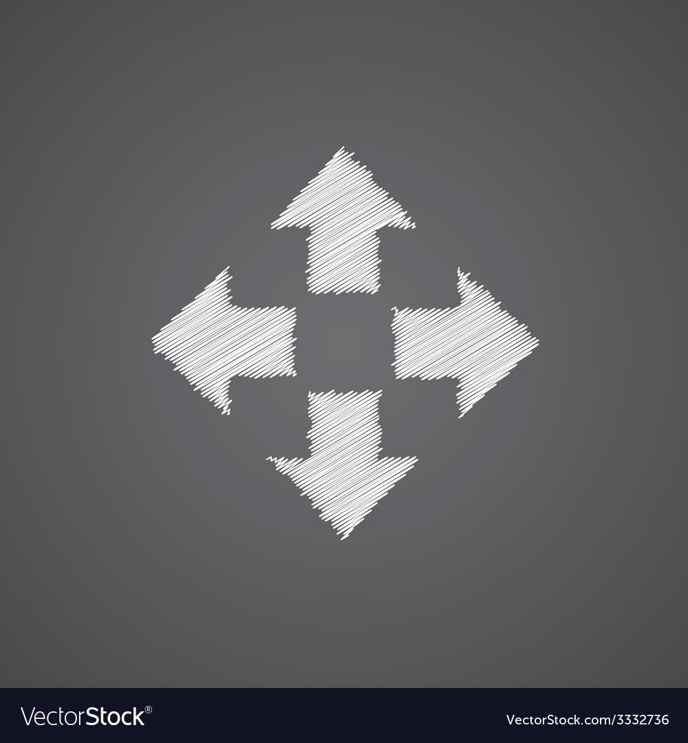 Move sketch logo doodle icon vector   Price: 1 Credit (USD $1)
