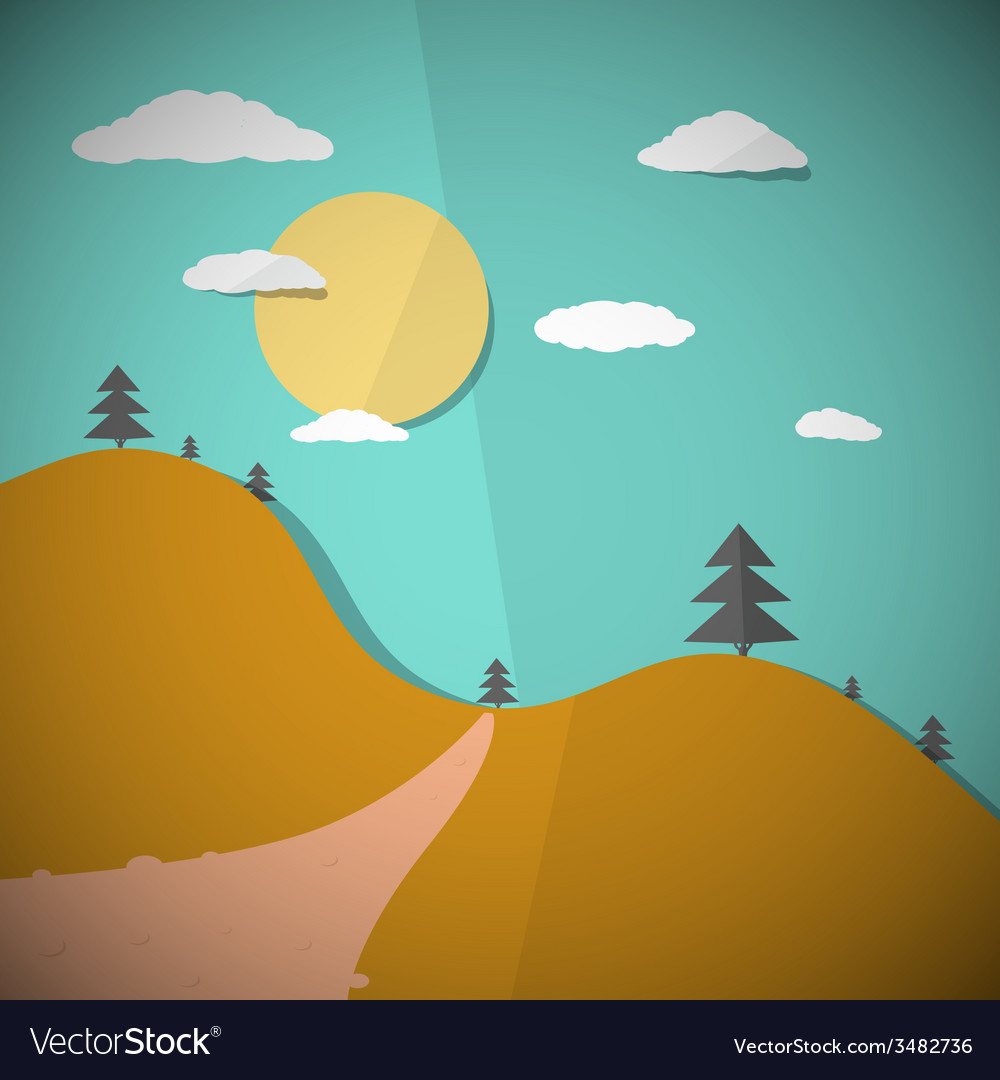 Paper nature flat design vector | Price: 1 Credit (USD $1)