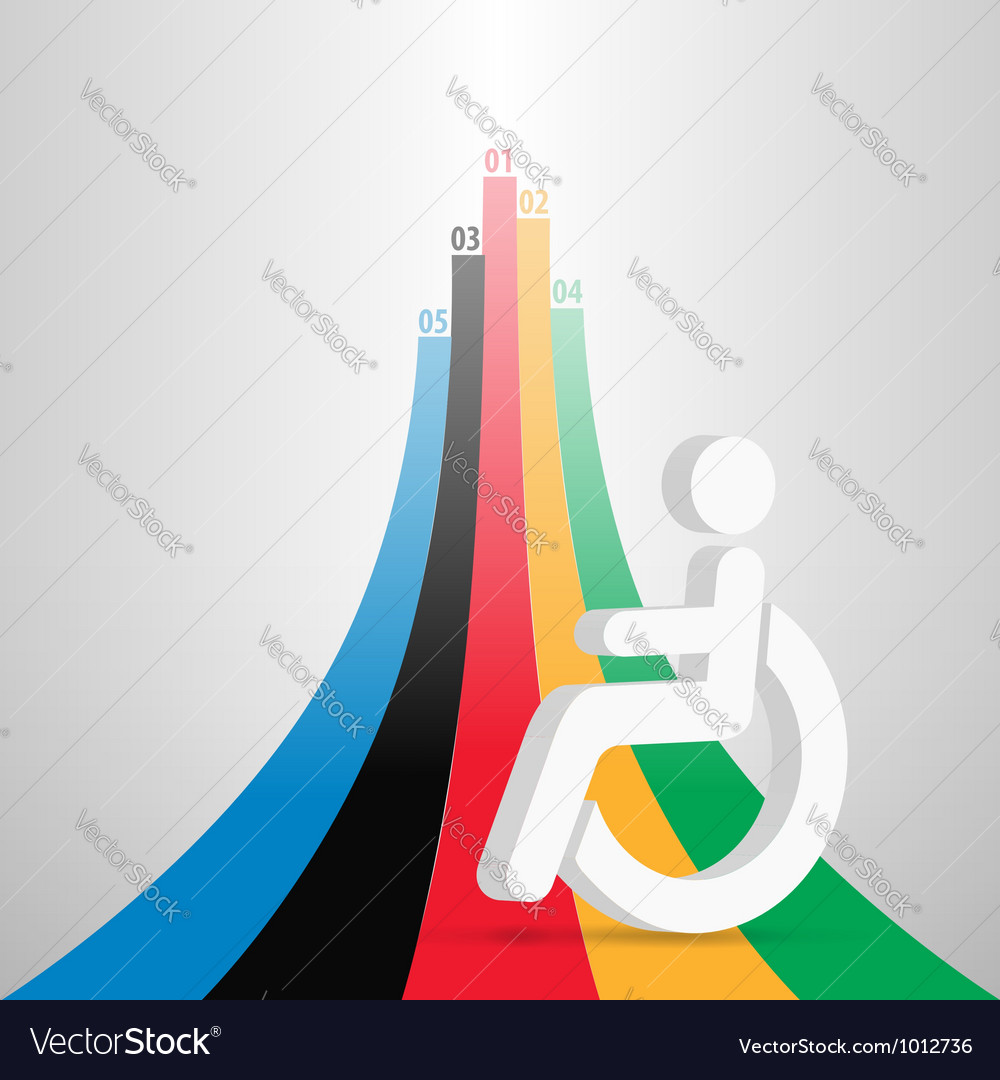 Para olympic stats vector | Price: 1 Credit (USD $1)