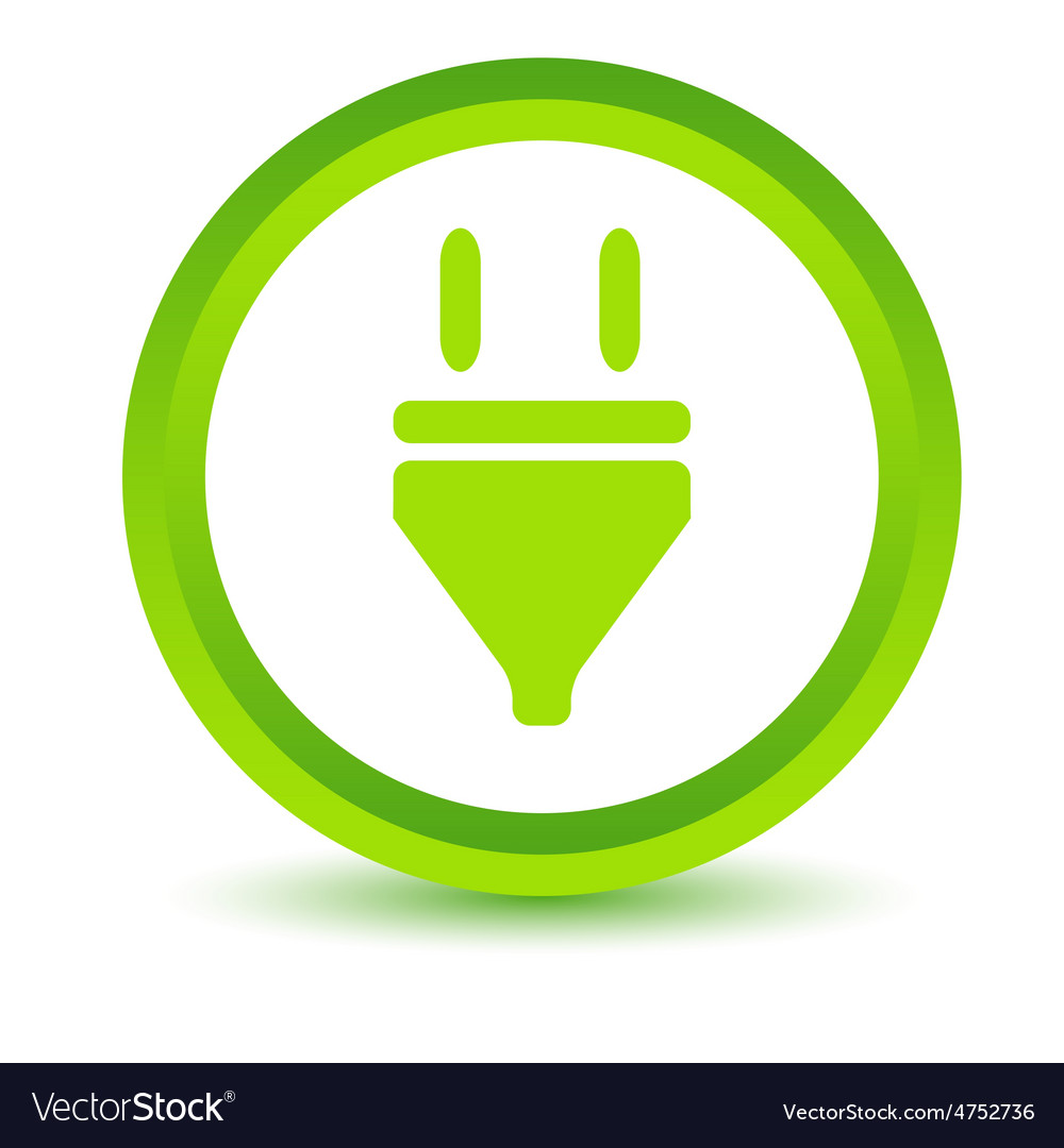 Plug volumetric icon vector   Price: 1 Credit (USD $1)