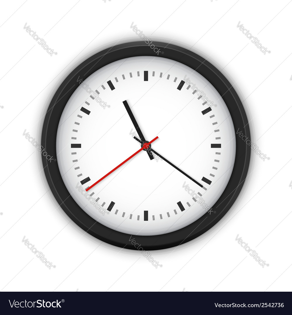 Simple round wall clock vector | Price: 1 Credit (USD $1)