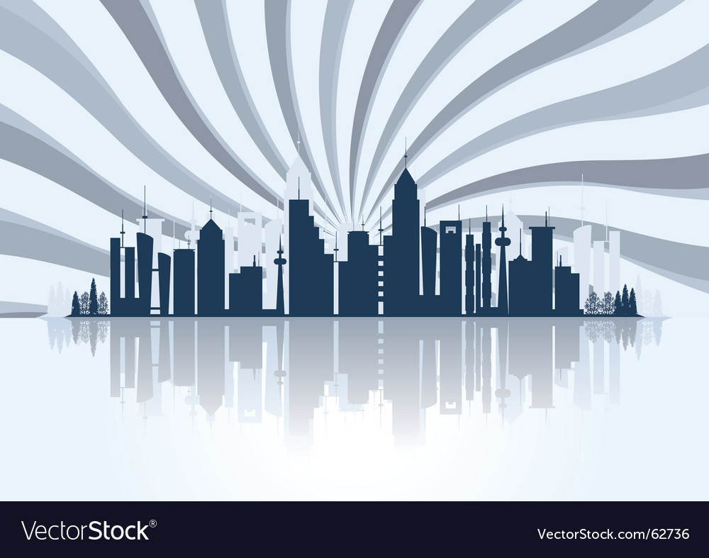 Starry city escape vector | Price: 1 Credit (USD $1)