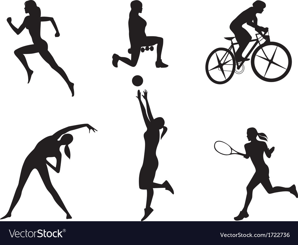 Women in different kinds of sport vector | Price: 1 Credit (USD $1)