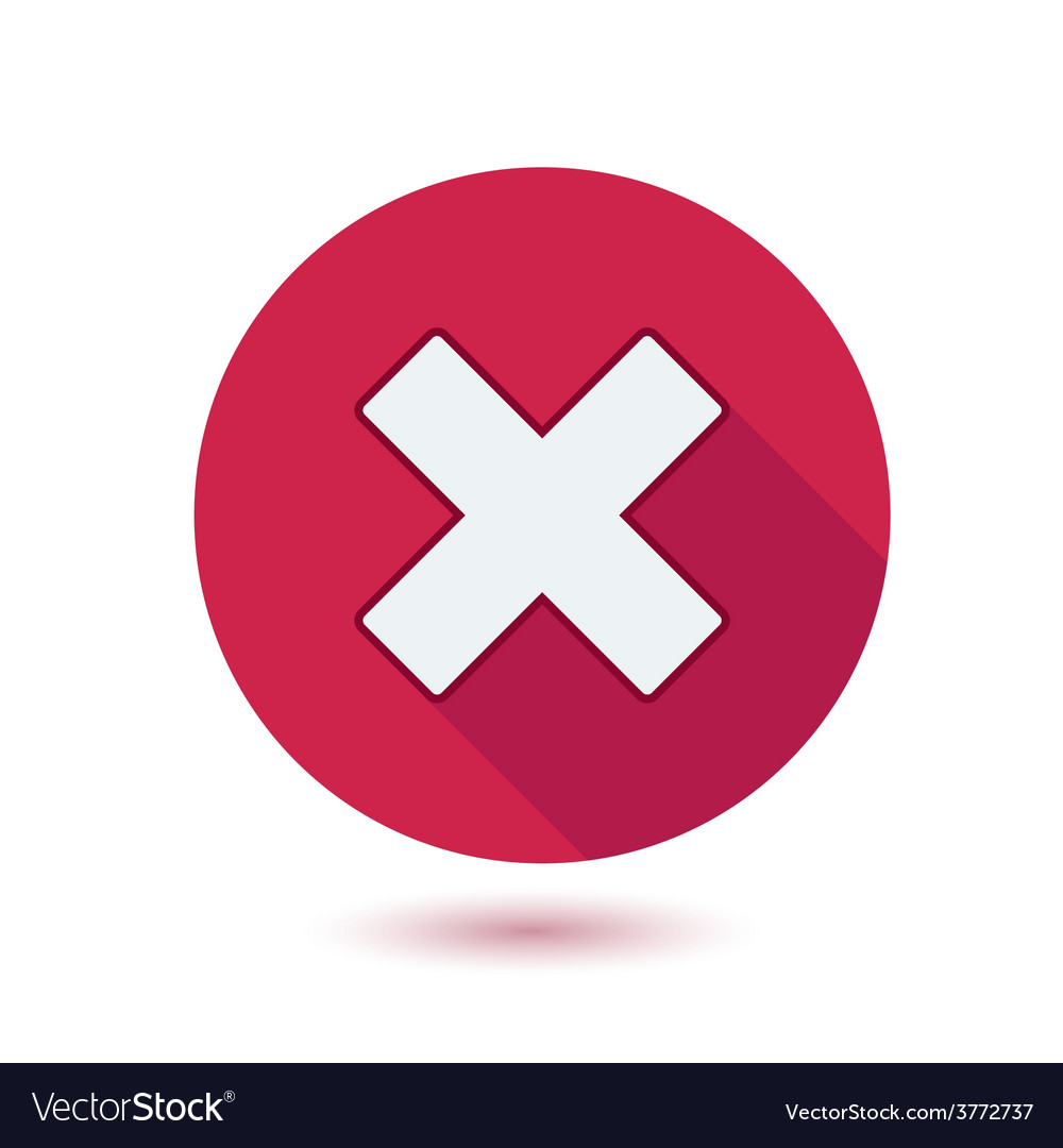 Cross sign on red button with shadow vector | Price: 1 Credit (USD $1)