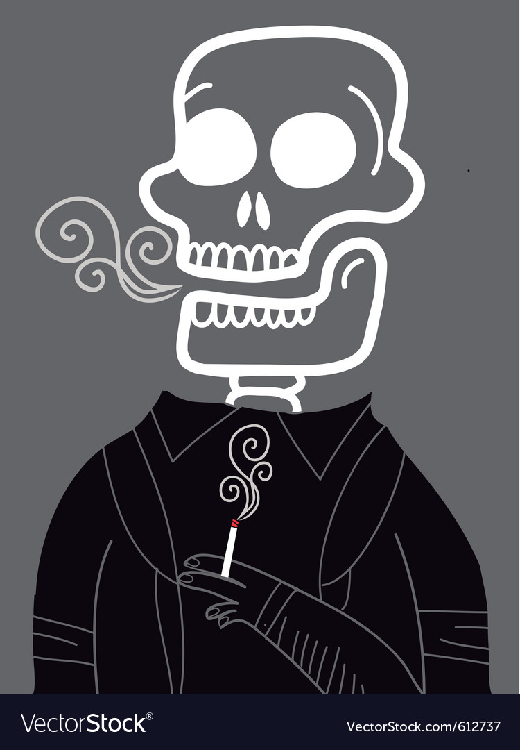 Dead smoker vector | Price: 3 Credit (USD $3)