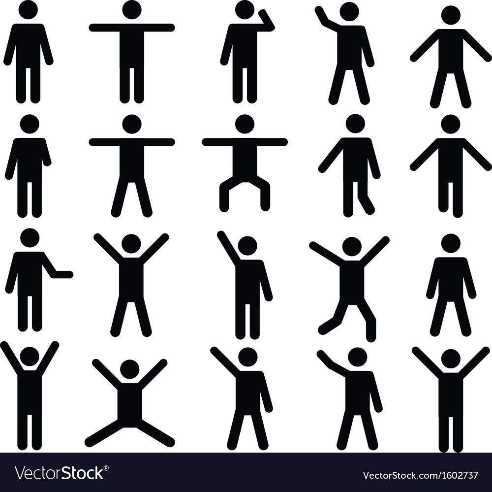 Human pictograms vector | Price: 1 Credit (USD $1)