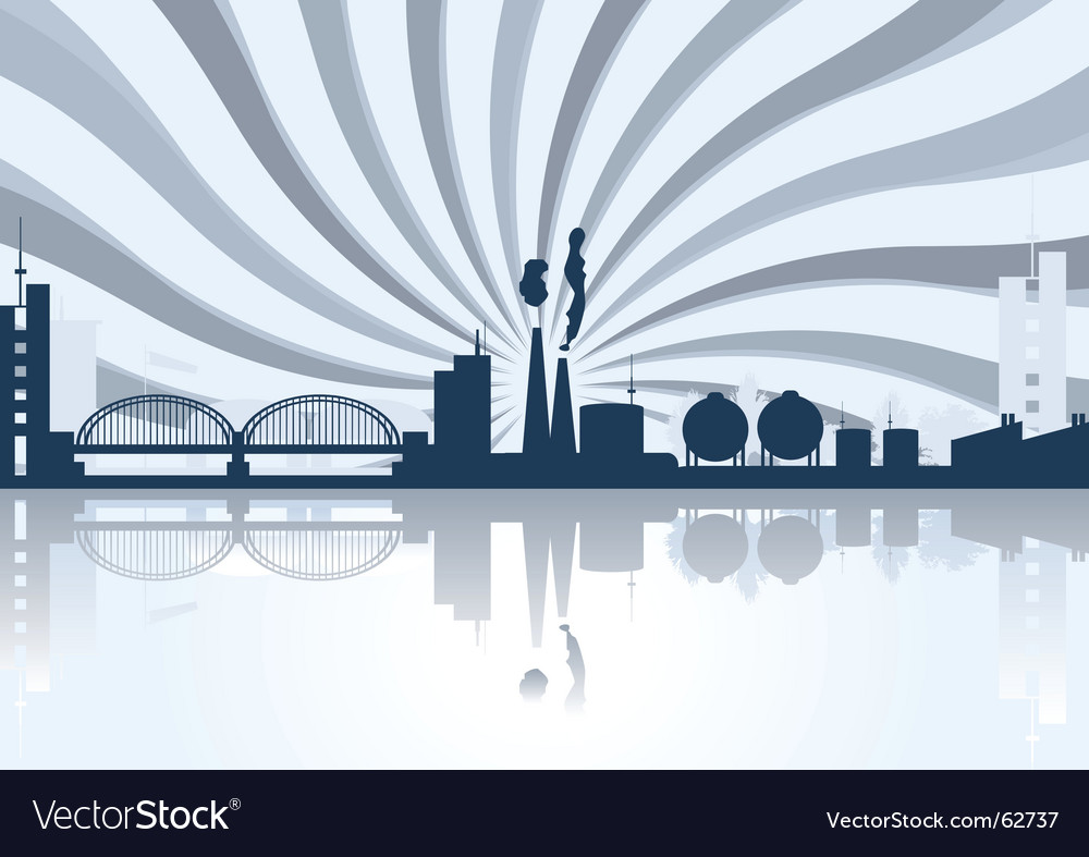 Industrial cityscape vector | Price: 1 Credit (USD $1)