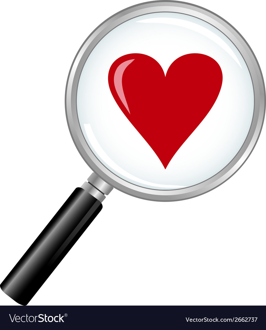 Magnified love vector | Price: 1 Credit (USD $1)