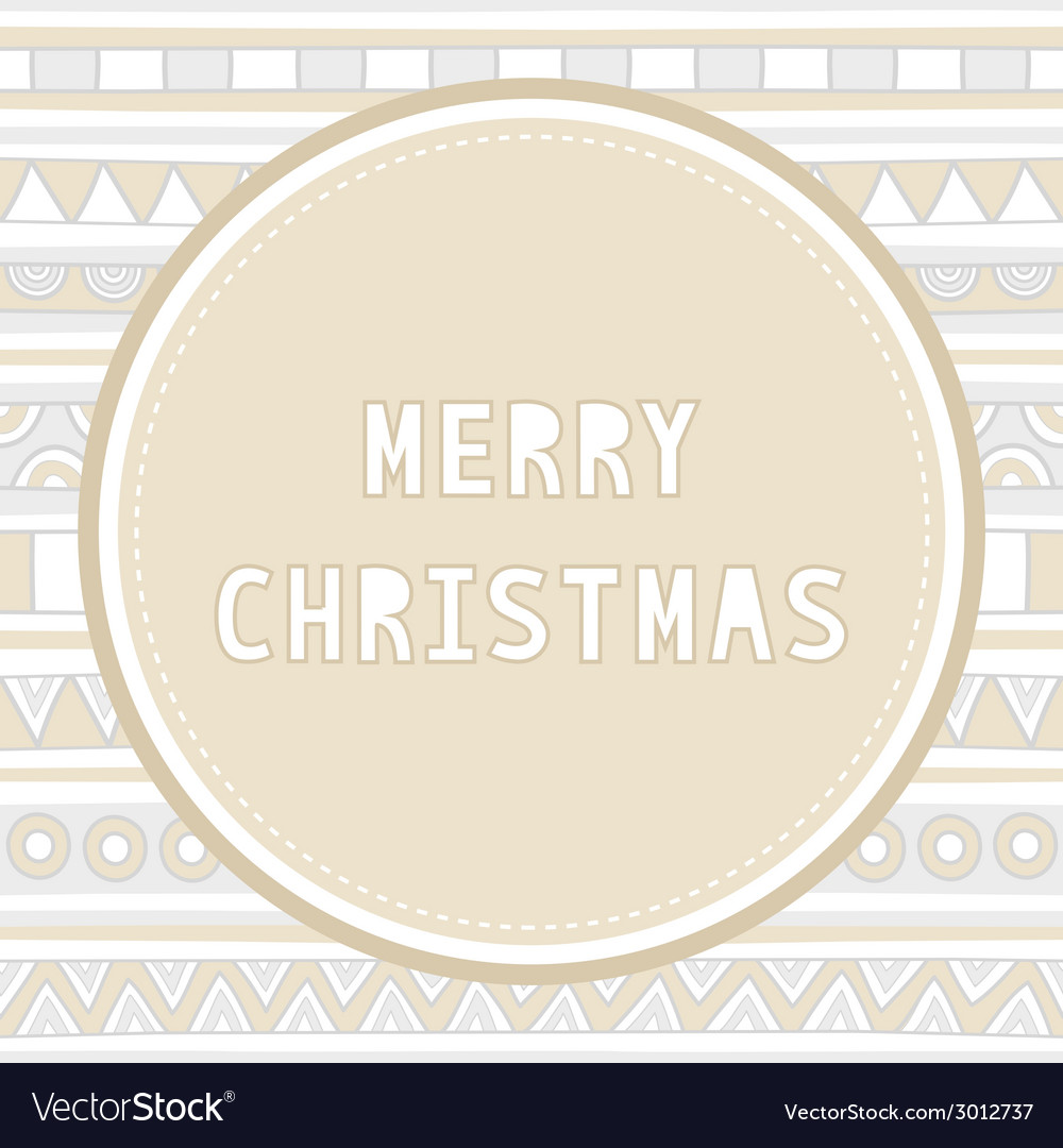 Merry christmas greeting card25 vector | Price: 1 Credit (USD $1)