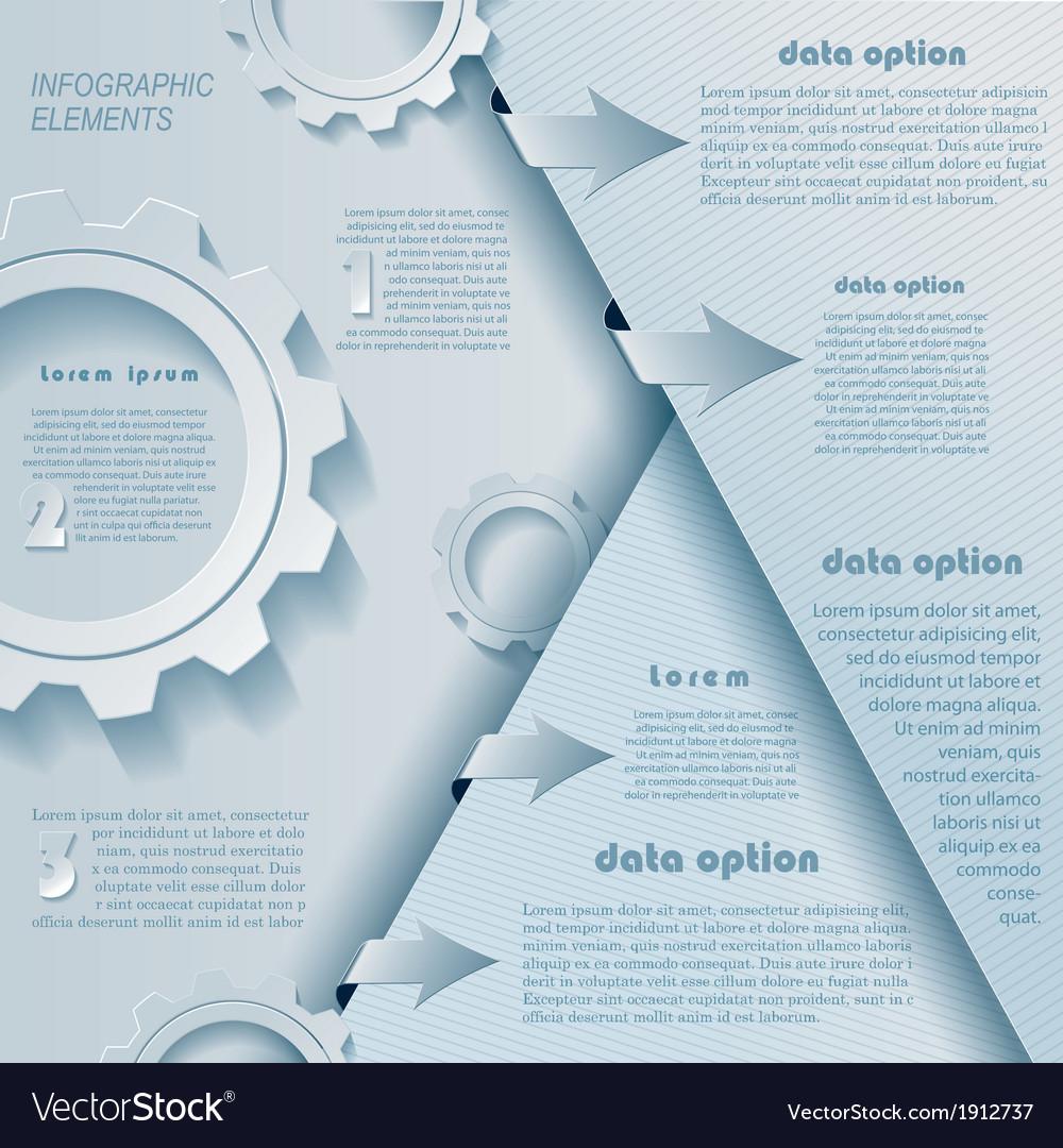 Modern infographics design with cogwheels vector | Price: 1 Credit (USD $1)