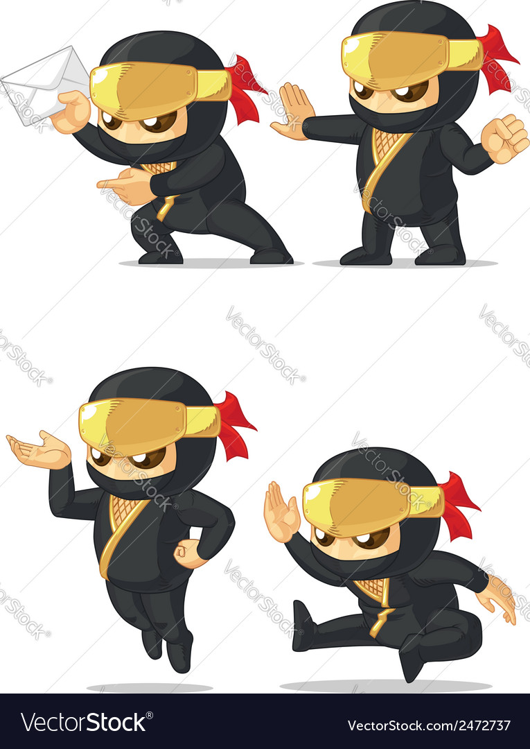 Ninja customizable mascot 8 vector | Price: 1 Credit (USD $1)