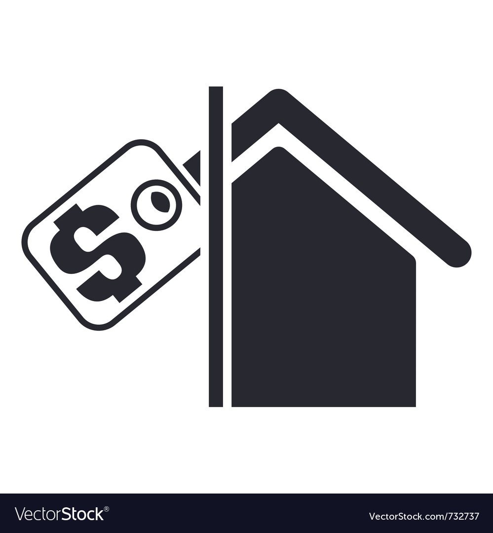 Real estate icon vector | Price: 1 Credit (USD $1)