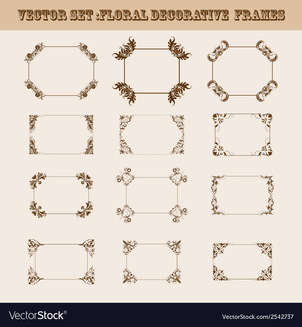 Set of decorative frames vector | Price: 1 Credit (USD $1)