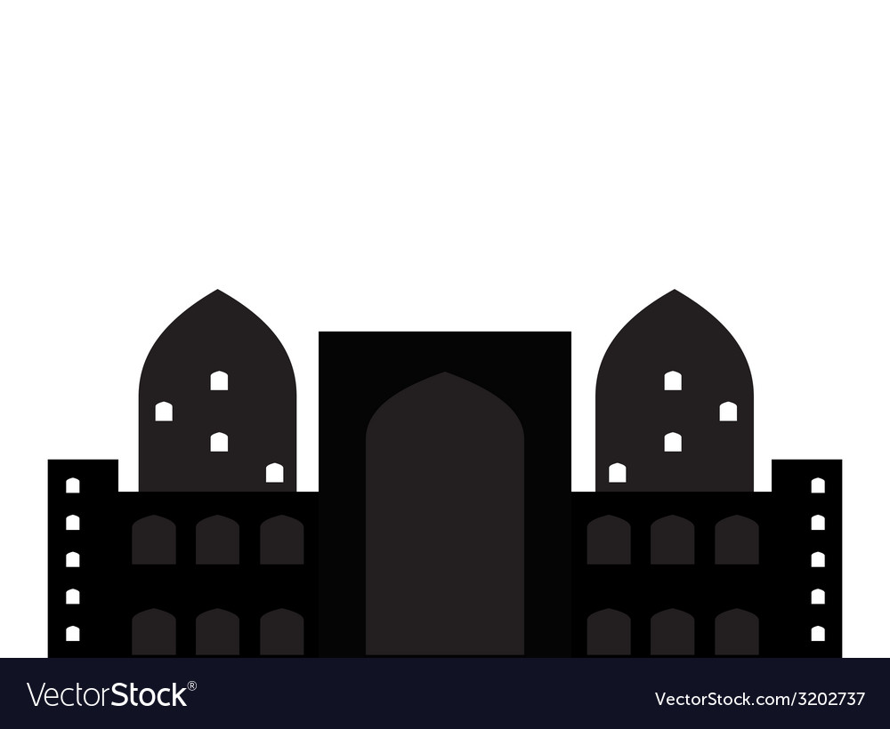 Silhouette of arab buildings sea clouds vector | Price: 1 Credit (USD $1)