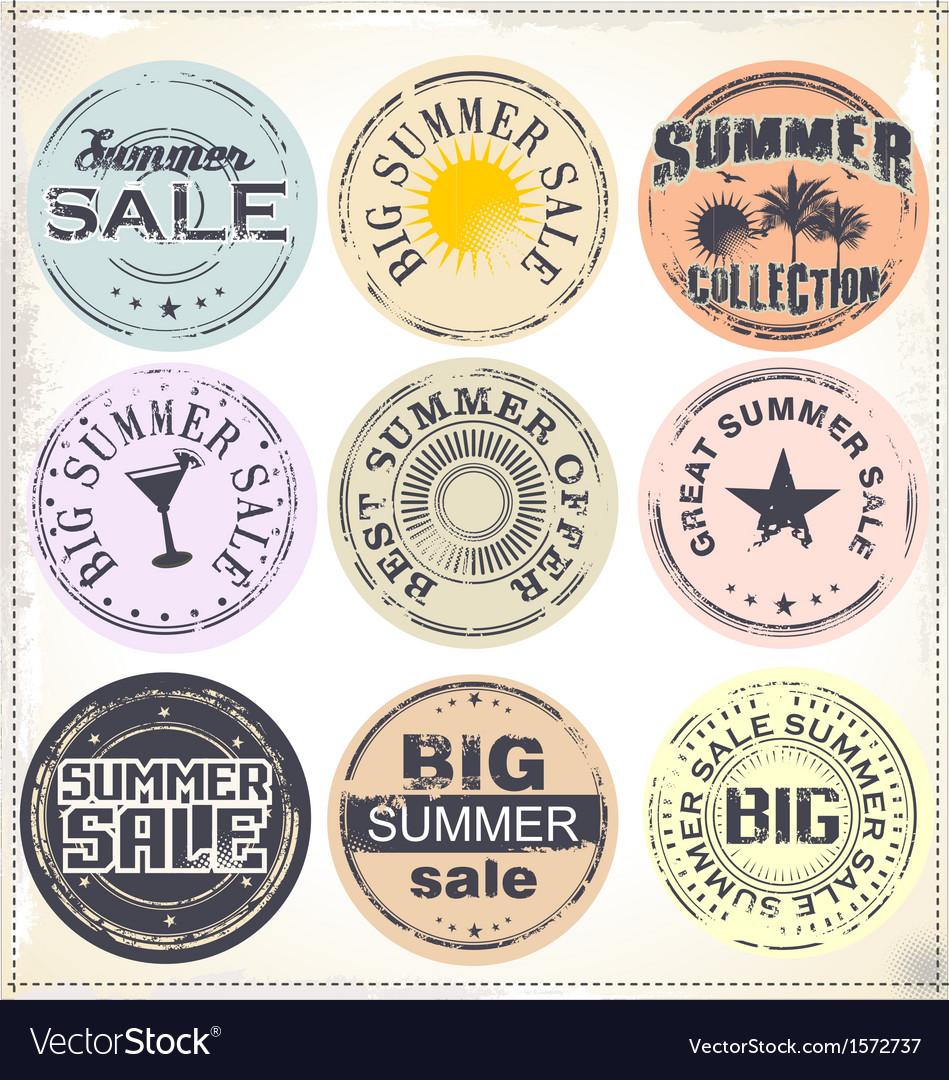 Summer sale grunge rubber stamp vector | Price: 3 Credit (USD $3)