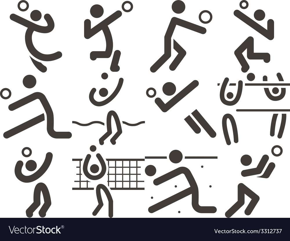 Volleiball icons vector | Price: 1 Credit (USD $1)