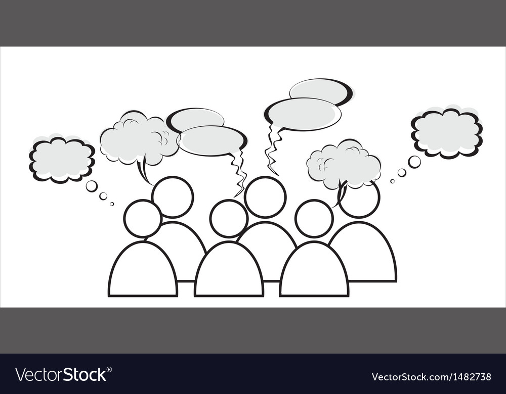 A group of characters is having a discussion vector | Price: 1 Credit (USD $1)