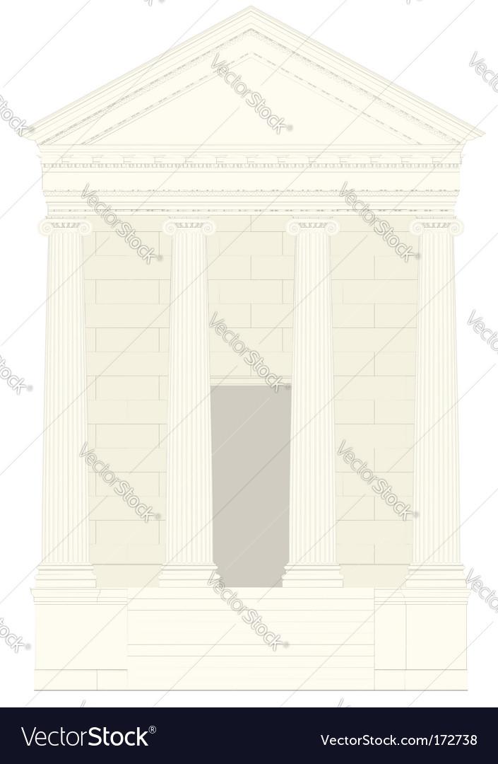 Antiquities greek temple vector | Price: 1 Credit (USD $1)