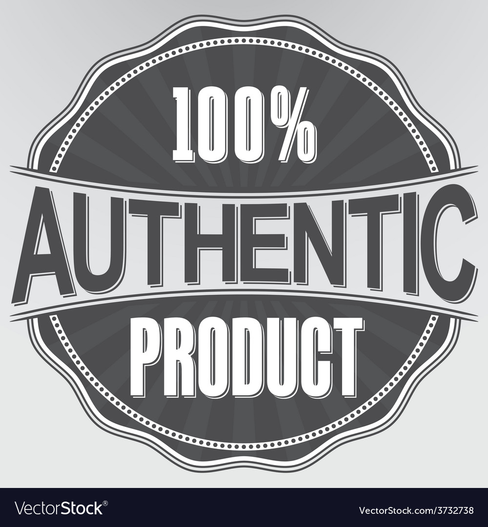 Authentic product retro label vector | Price: 1 Credit (USD $1)
