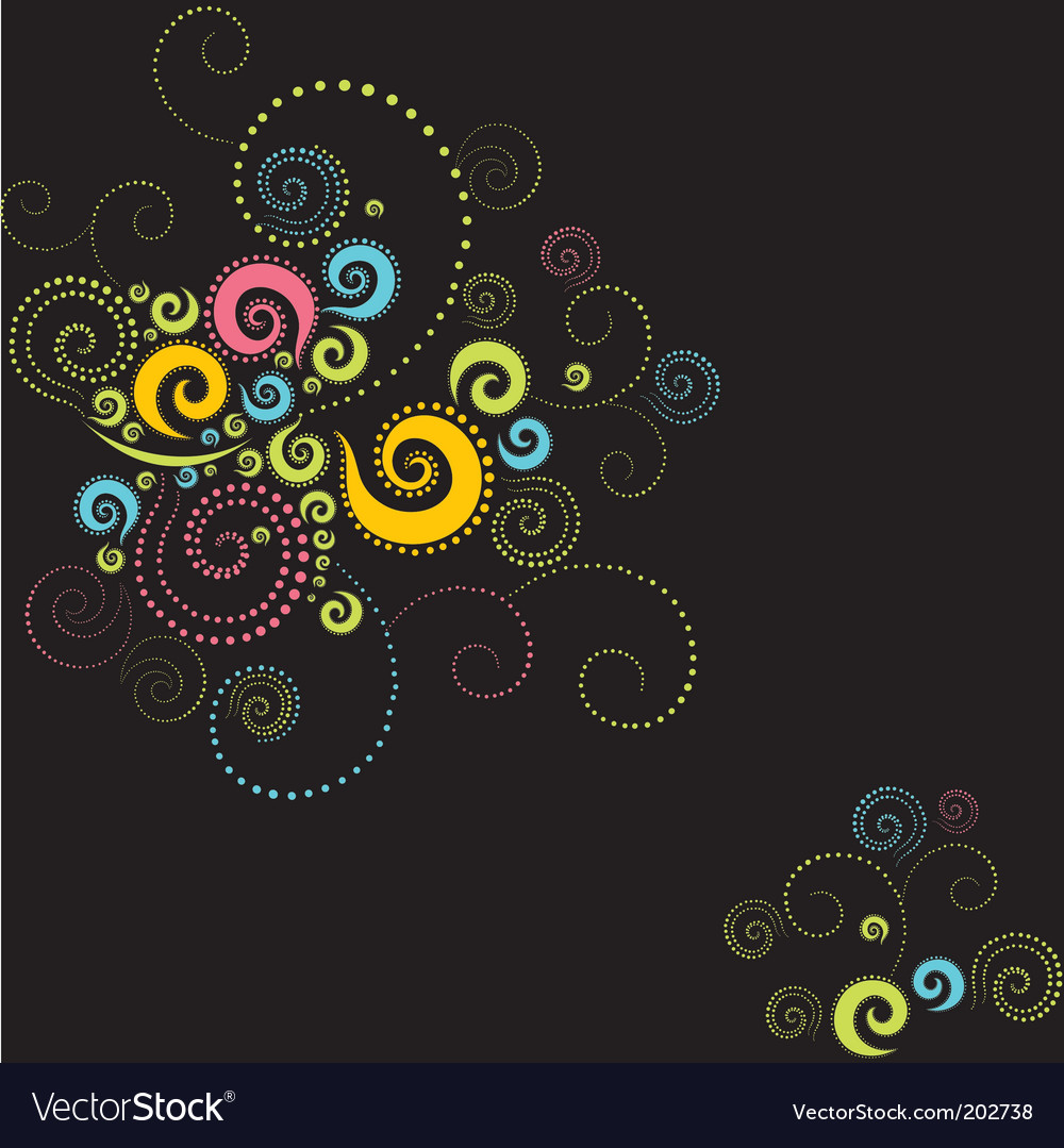 Background twirls vector | Price: 1 Credit (USD $1)