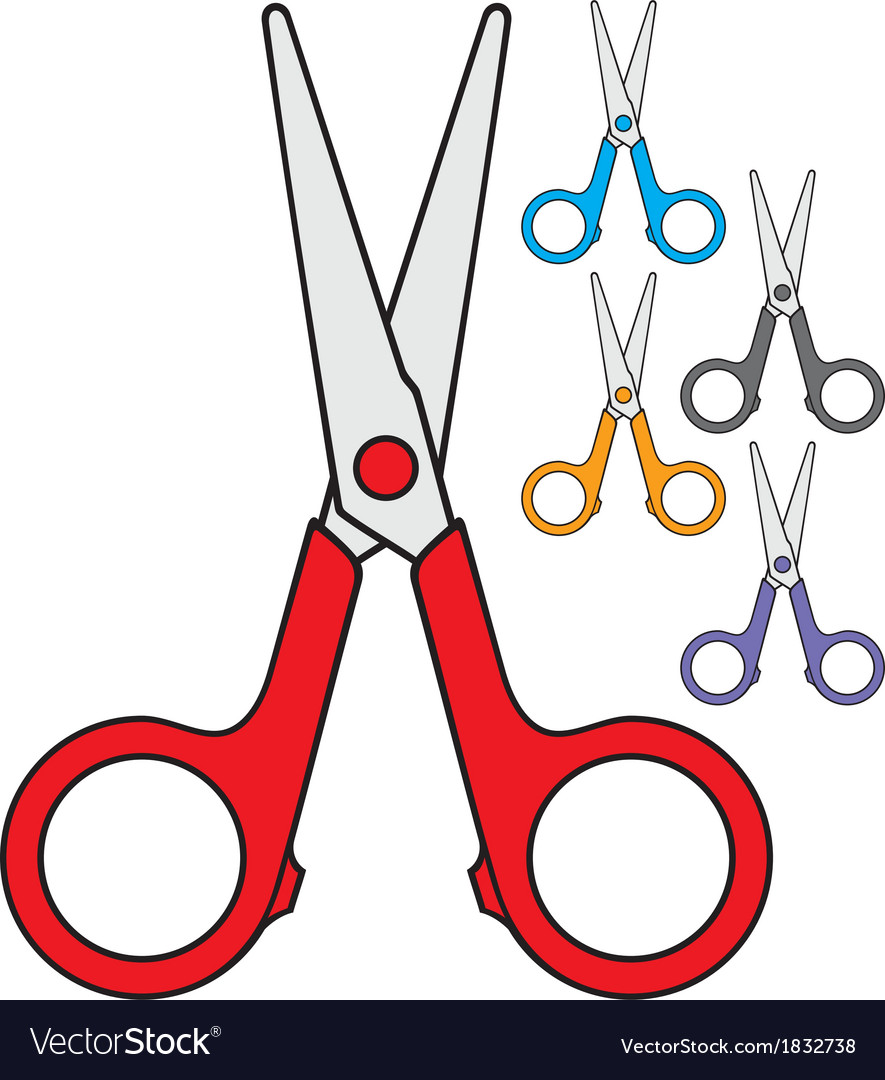 Children scissors vector | Price: 1 Credit (USD $1)