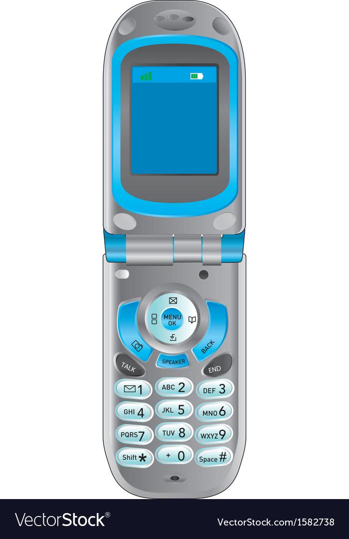 Flip phone retro vector   Price: 1 Credit (USD $1)