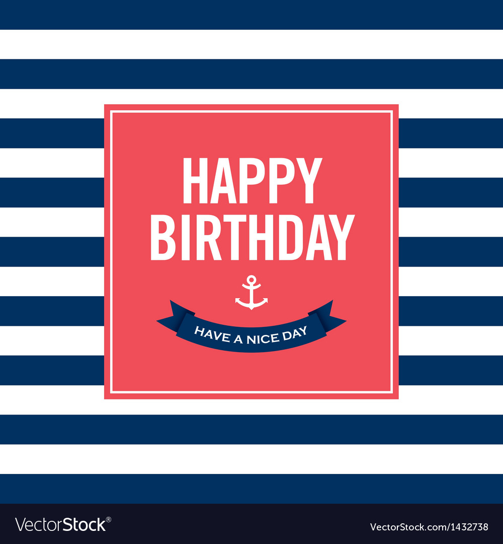Happy birthday invitation card vector | Price: 1 Credit (USD $1)