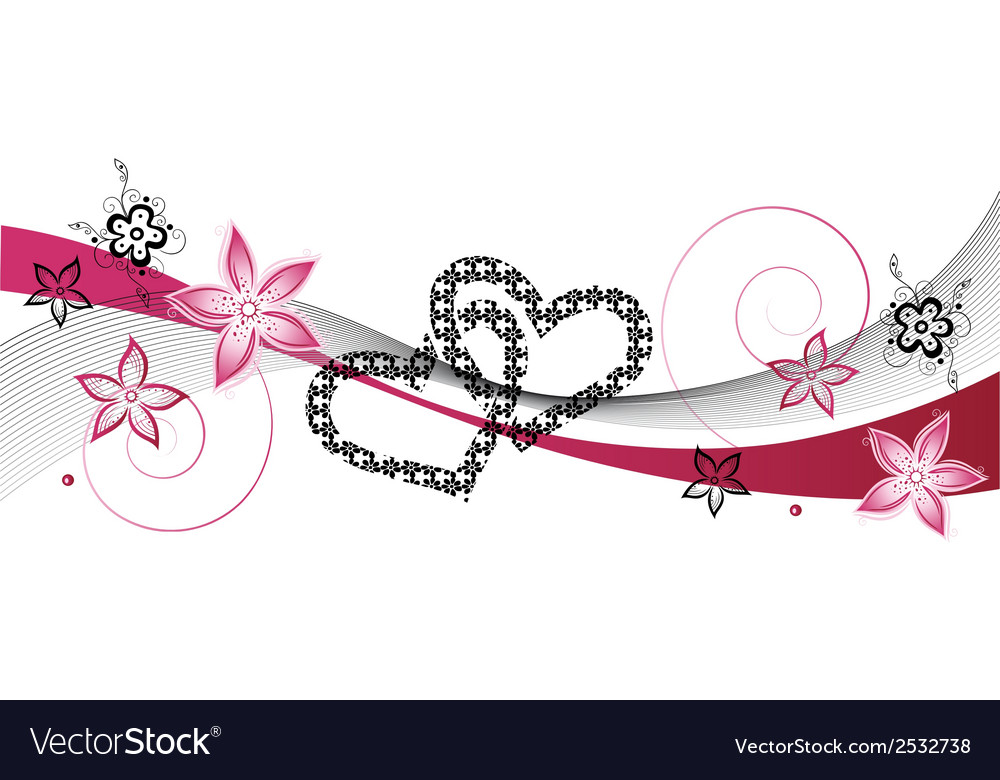 Hearts wedding vector | Price: 1 Credit (USD $1)
