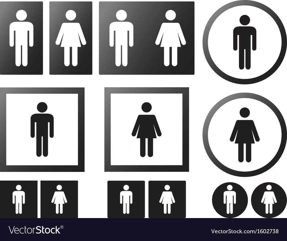 Human signs vector | Price: 1 Credit (USD $1)
